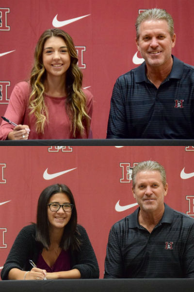 Hamilton 2017 Signing day Girls Golf athletes