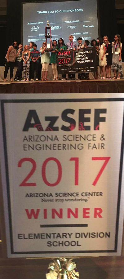 Knox Gifted Academy Elementary Division Champs at AzSEF, 2nd Year in a Row!