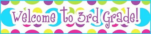 Image result for welcome to 3rd grade clip art