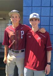 Senior pitcher Tayt Smith and freshman pitching coach Max Kraust are the only two pitchers to throw no-hitters for PHS.