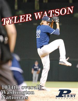 Senior Tyler Watson is Perry's first ever athlete drafted out of high school Watson was drafted by the Washington Nationals.