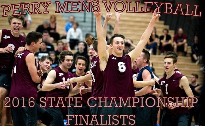 Perry boys volleyball state finalist team