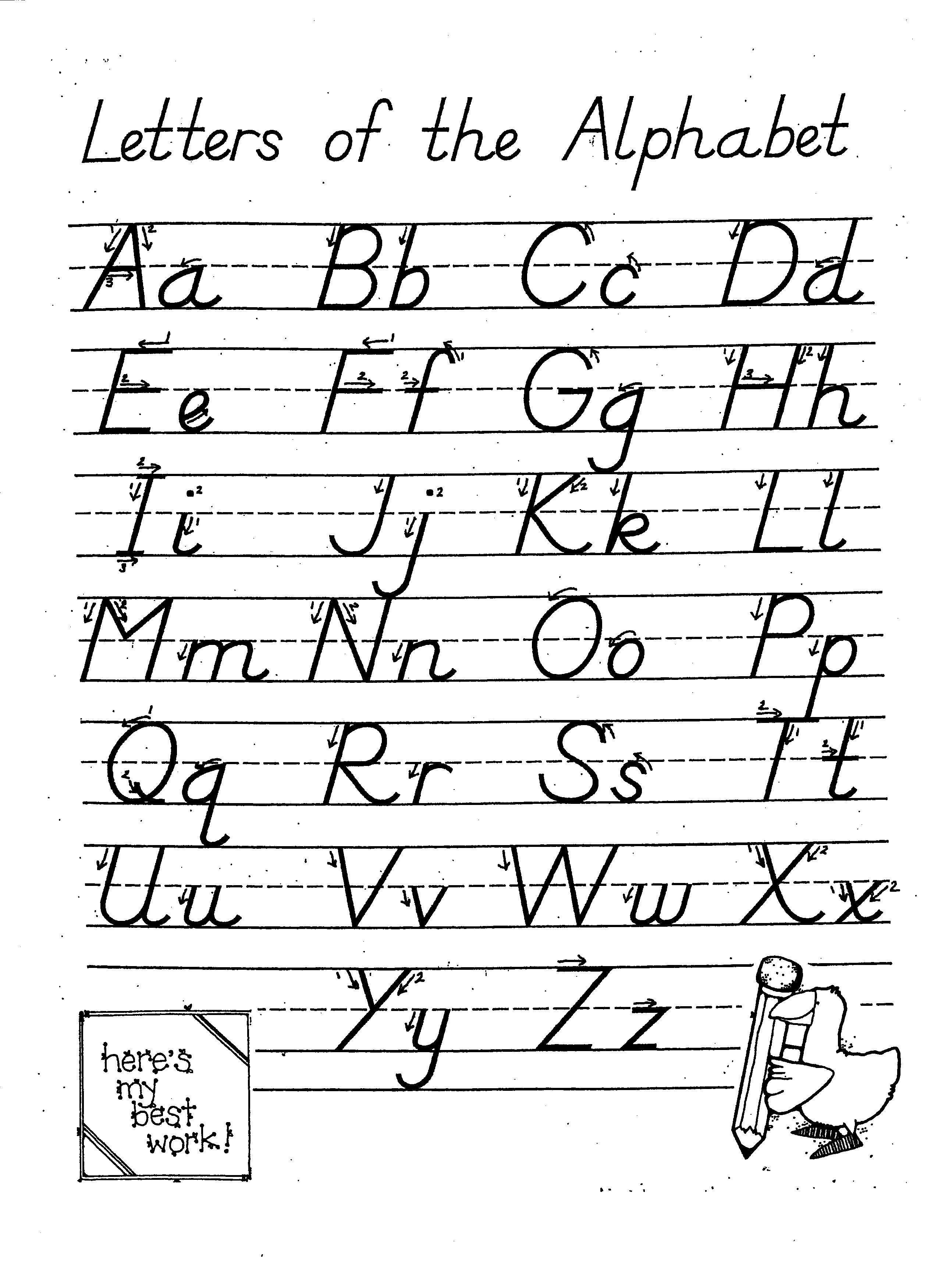 Worksheets D Nealian Handwriting Worksheets worksheet handwriting d nealian wosenly free dnealian alphabet practice related keywords suggestions click below for a link