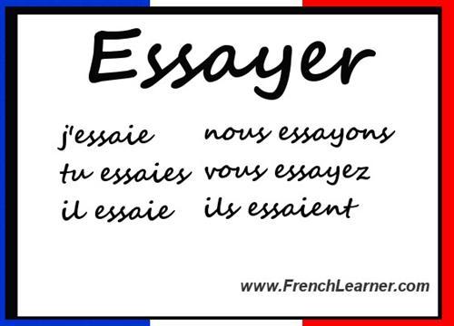 Past participle french essayer