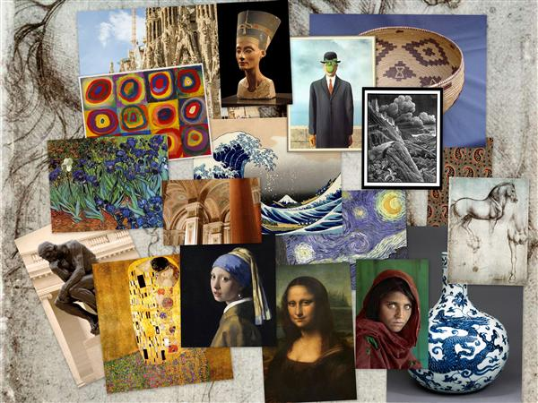 Collage of famous artworks