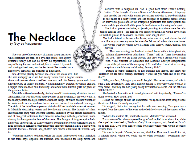 the necklace essay