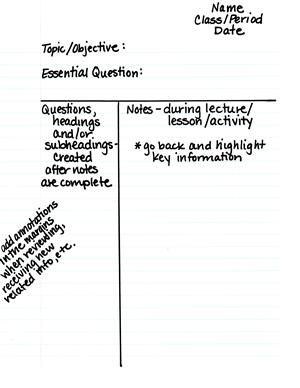 Cornell Notes - Highlighting and Annotating