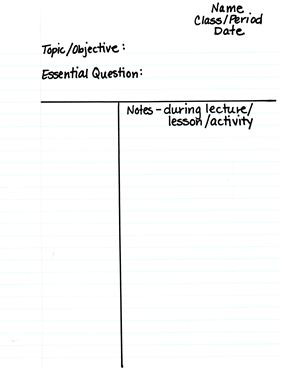 Cornell Notes - Notes