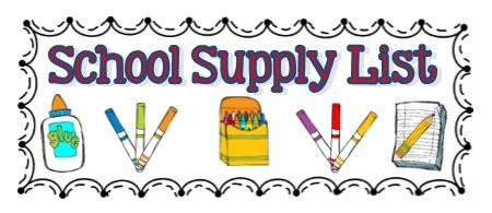 Image result for kindergarten supply list