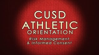 Athletic Risk Management & Informed Consent